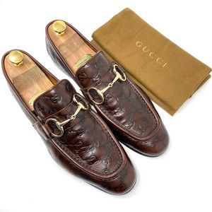 GUCCI Guccissima Men's GG Leather Dress Loafer